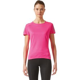 adidas Response Camiseta Running Mujer, shock pink
